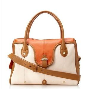 Brand new Orange Nude Tan 100% Leather JOY Satchel